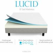 lucid 5 inch gel memory foam mattress Lucid 5 Inch Gel Memory Foam Mattress, Multiple Sizes   Walmart.com lucid 5 inch gel memory foam mattress