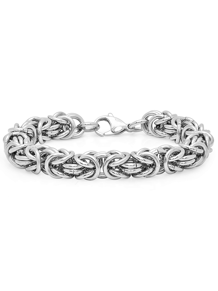 Oxford Ivy Mens Stainless Steel Chain Link Bracelet
