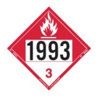 LABELMASTER 35ZL43 Combustible Liquid Placard,10-3/4inH G1811321