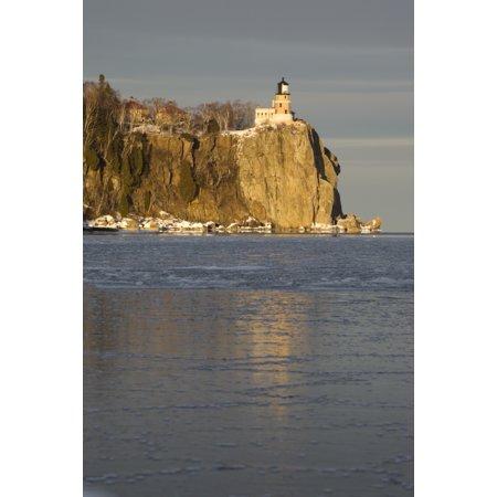 Split Rock Lighthouse On Lake Superior In Winter Minnesota Usa Canvas Art - Susan Dykstra  Design Pics (26 x (Best Split Pic App)