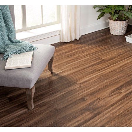 Prairie Ridge 10.5 mm Thickness x 5.12 in. Width x 48.03 in. Length Water Resistant Engineered Wood Flooring (10.24 sq. ft. / case) (Cappuccino Hardwood Flooring)