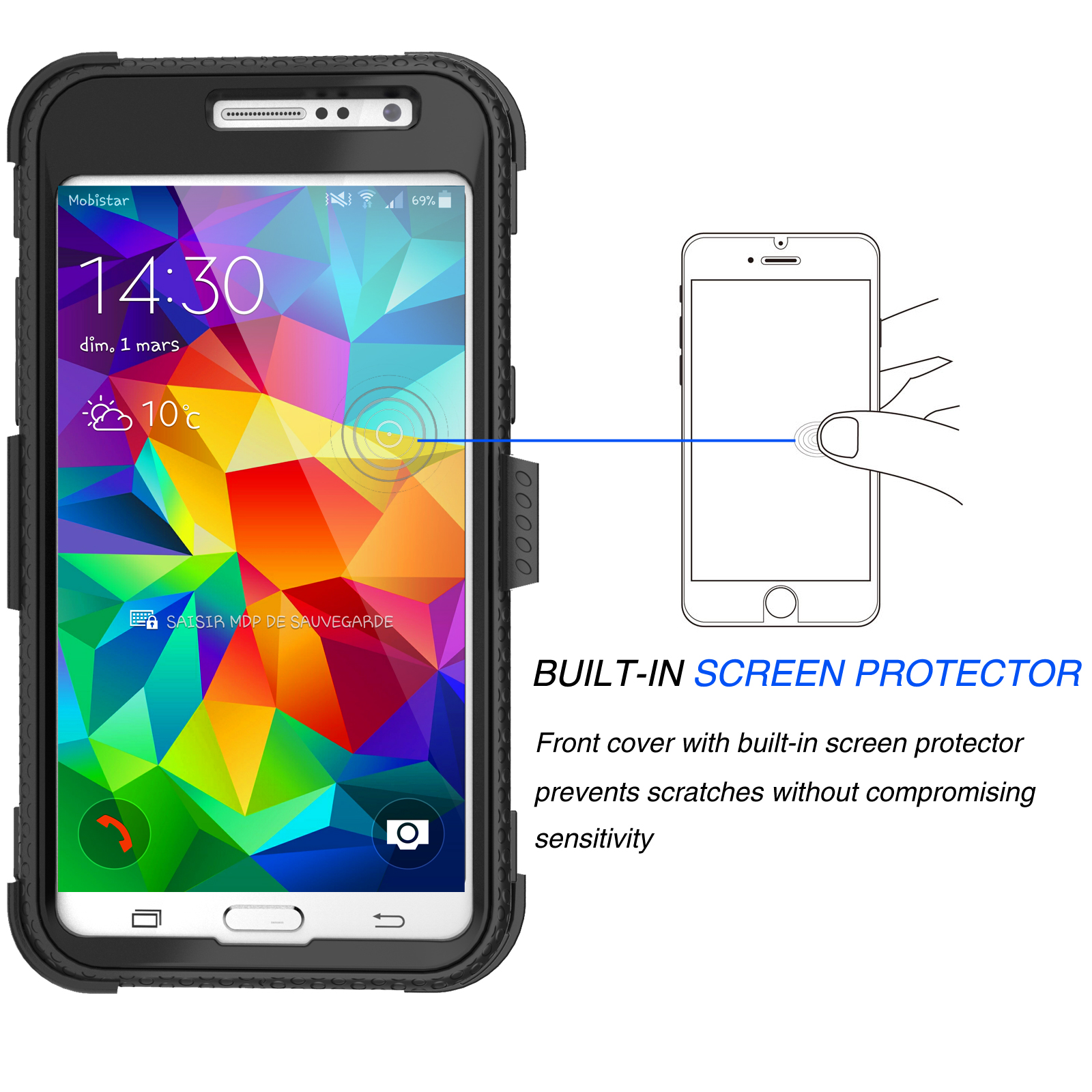 Galaxy Grand Prime Case Grand Prime Holster Belt Clip Njjex [Built in Screen Protector] Holster Locking Belt Clip Defender Case Cover For Samsung Galaxy