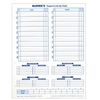 Glovers Baseball/Softball Dugout Line-Up Charts Refill (30 Charts) BB-102