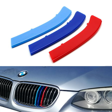 Bmw 3 Series Coupe - iJDMTOY Exact Fit ///M-Colored Grille Insert Trims For 2011-2013 BMW E92/E93 LCI 3 Series 2-Door Coupe 328i 335i 335is with 13-Beam ONLY