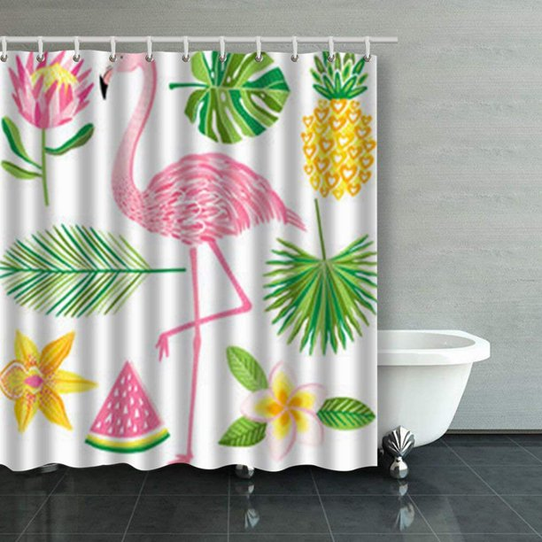BPBOP Tropical Summer Illustration Flamingo Pineapple