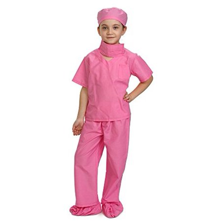 Dress Up America Pink Children Doctor Scrubs Toddler Costume Kids Doctor Scrub's Pretend Play Outfit (Tinkerbell Dress Up Outfit)
