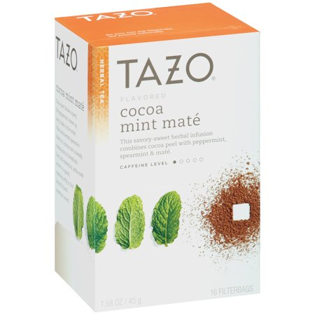 Tazo Herbal Tea, Cocoa Mint Mate, Tea Bags, 16 - Cocoa Green Tea