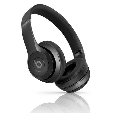 refurbished beats by dr dre beats solo3 wireless on ear headphone gloss black. Black Bedroom Furniture Sets. Home Design Ideas