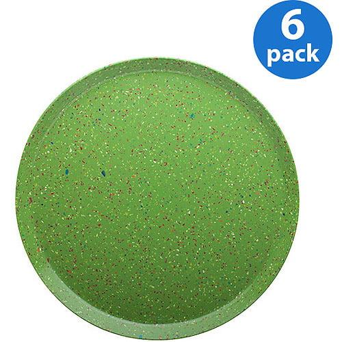 "Zak! Eco-friendly Sprinkles 9"" Dinner Plates, Set of 6"