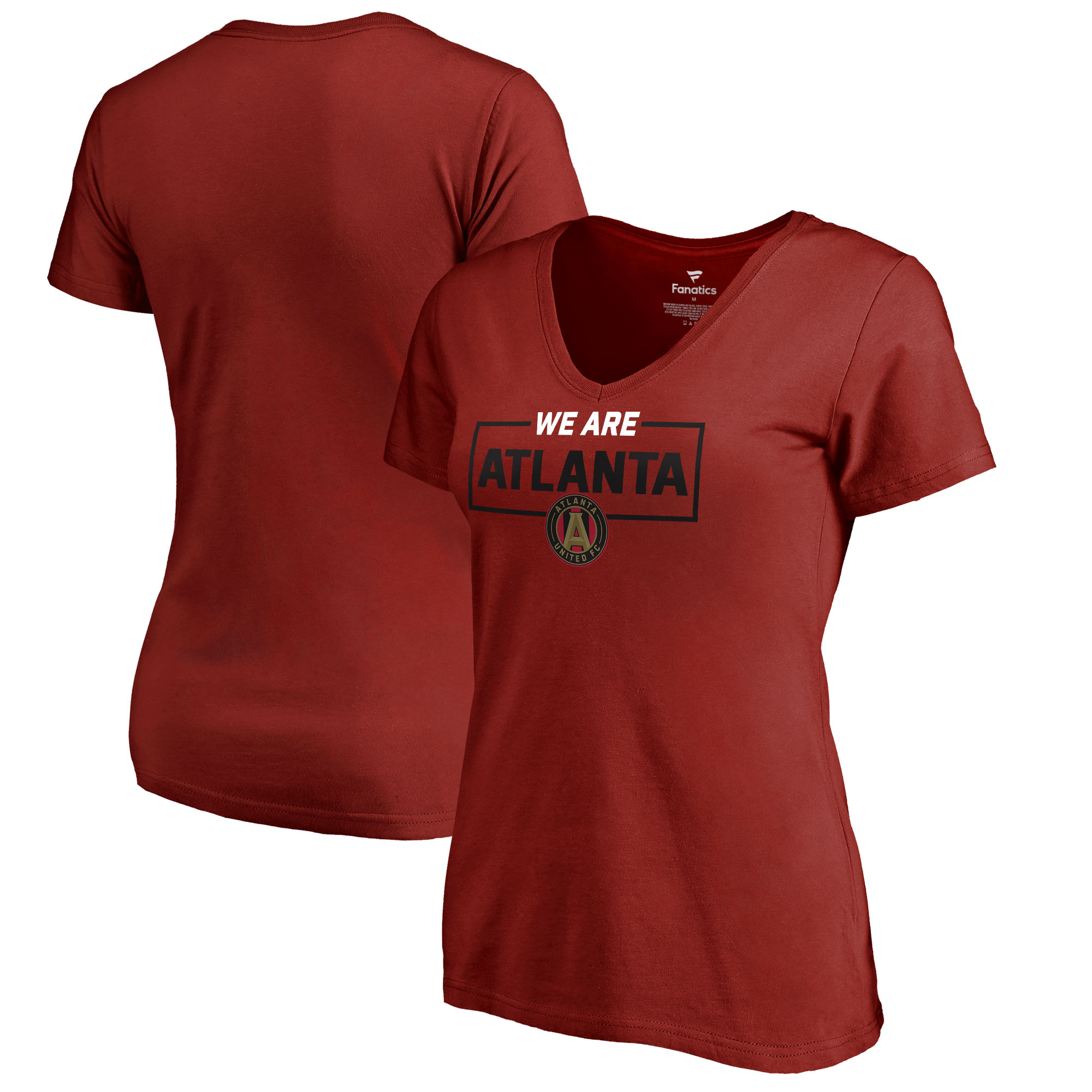 Atlanta United FC Fanatics Branded Women's Plus Size We Are V-Neck T-Shirt - Red