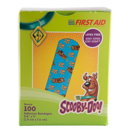 Strip Badges - Scooby Doo! Bandage Strips, 3/4