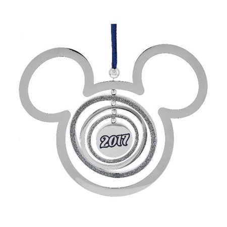 disney parks 2017 mickey mouse icon spinning christmas ornament new with tag - Disney Christmas Decorations 2017