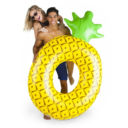 BigMouth Inc. Giant Pineapple Pool Float, Funny Fruit Inflatable Vinyl Summer Pool or Beach Toy, Patch Kit Included