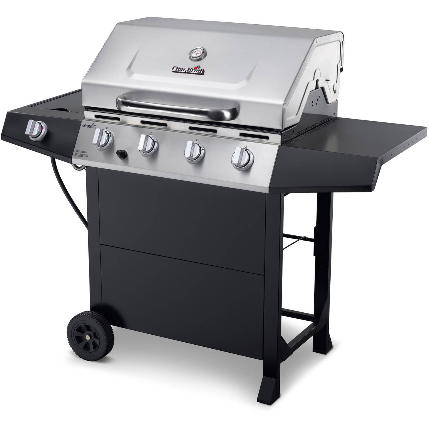 Char-Broil 4-Burner Gas Grill, Stainless Steel/Black
