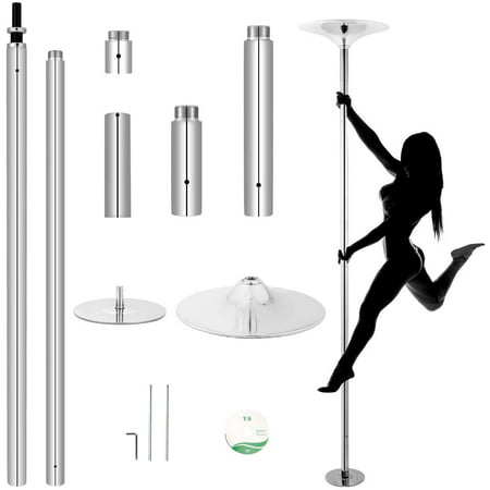 Erommy Dancing Pole, Spinning and Static Pole Dance with Adjustable Height, Portable Removable Pole Kit for Home Club Gym Bar