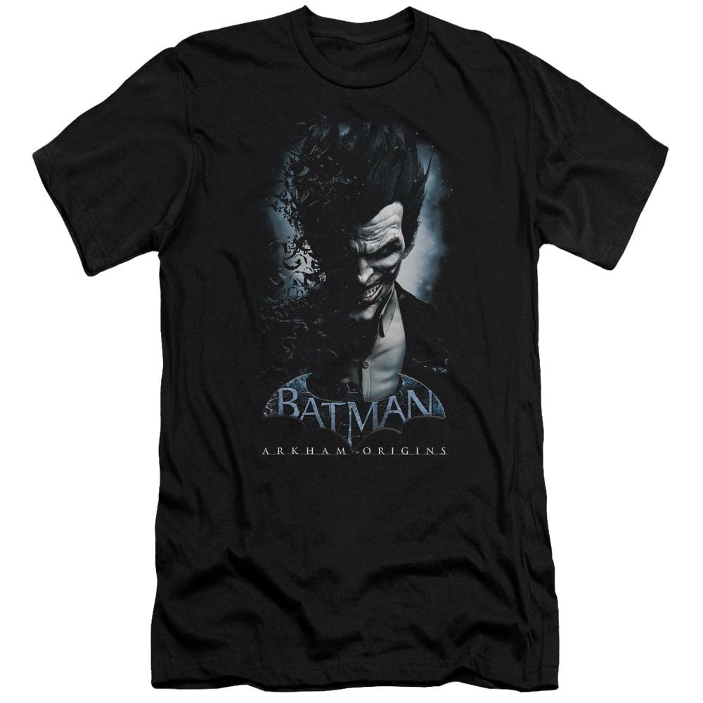 Batman Arkham Origins/Joker   S/S Adult 30/1   Black     Bao106