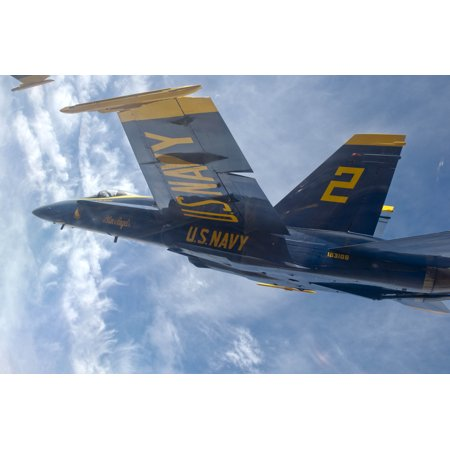 Canvas Print U.S. Navy flight demonstration squadron, the Blue Angels, Right Wing pilot Lt. Matt Suyderhoud flies Stretched Canvas 10 x - X Wing Pilot