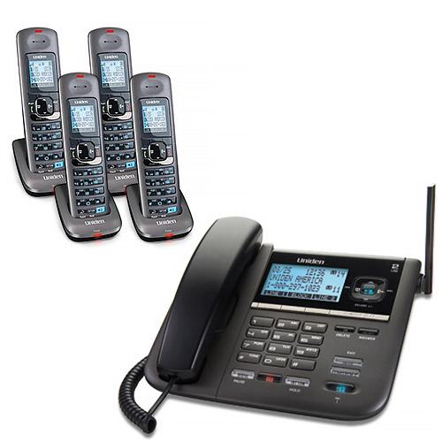 """""""Uniden DECT4096-4 2-Line DECT 6 Corded Cordless Phone"""" by Uniden"""