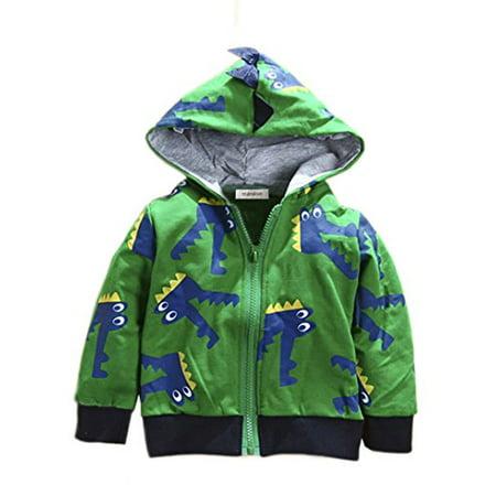 Stylesilove Boy Cute Animal 3D Hoodie Jacket  3 4 Years  Crocodile