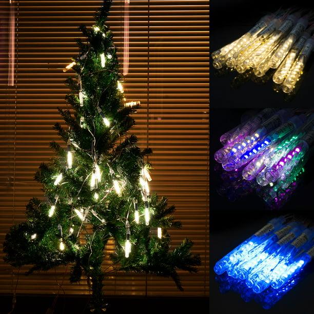 LUXMO Rain Drop Lights, LED Meteor Shower Lights 10 Tubes ...