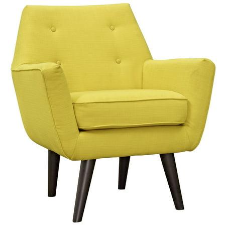 Modern Contemporary Urban Design Living Lounge Room Armchair, Yellow, Fabric