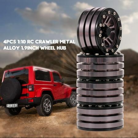 "4pcs 1/10 Metal Alloy 1.9"" Wheel Rim Beadlock for 1/10 Traxxas HSP Redcat Tamiya Axial SCX10 D90 Hpi 4WD RC Crawler Car - image 1 of 7"