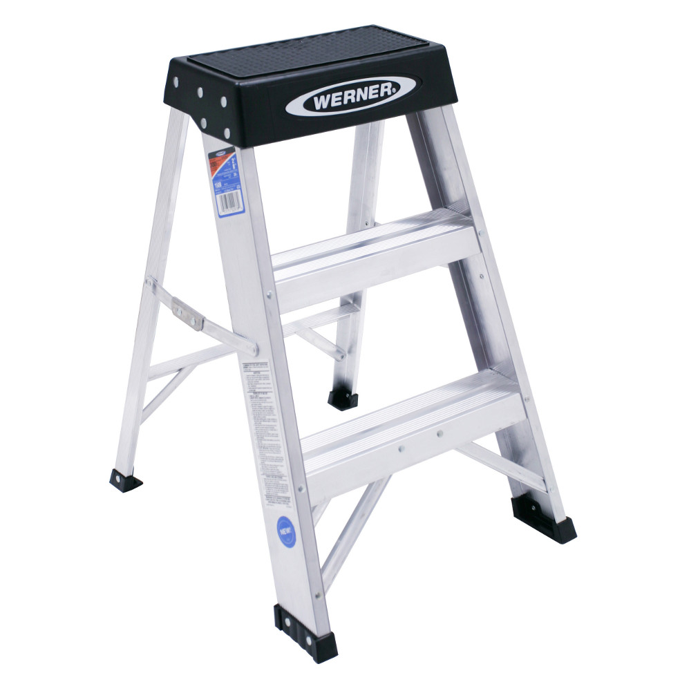 Werner 150B 2 ft Type IA Aluminum Step Stool by Werner