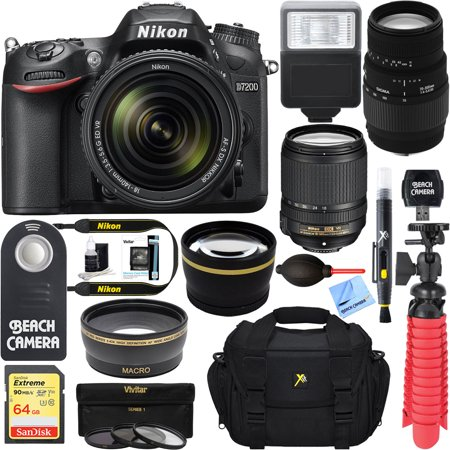 nikon d7200 black digital slr camera with 18 140mm vr 70. Black Bedroom Furniture Sets. Home Design Ideas