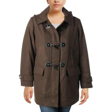 (MICHAEL Michael Kors Womens Plus Fall Wool Blend Toggle Coat)