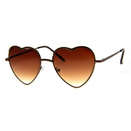 A.J. Morgan Women's Heart of Glass Heart-Shaped Sunglasses