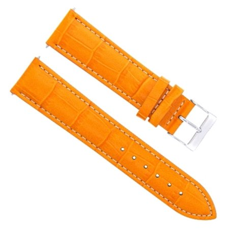 20MM LEATHER WATCH BAND STRAP FOR BREITLING PILOT, ABYSS, COLT WATCH ORANGE WS Breitling Pilot Watch