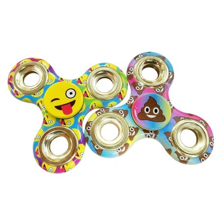 Emoji Two  2  Pack Of Fidget Spinner Toys   Helps Relieves Symptoms Of Stress Boredom Adhd Add   Helps Focus At School Class Home Work   Poop   Winky Wink Face