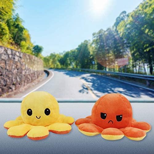 YHYH Cute Mini Plushies Double-Sided Flip Soft Octopus Plush Dolls Toys for Kids Girl Boy Birthday