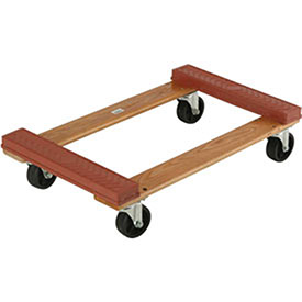 Hardwood Dolly - Rubber Bumpered Ends Deck, 30 x 18, 1200 Lb. Capacity, Lot of 1