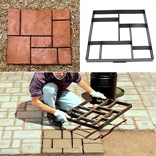 8 Grid Garden Paving Mould Plastic Brick Path Maker Stone Model Road Cement  DIY 51.5cm