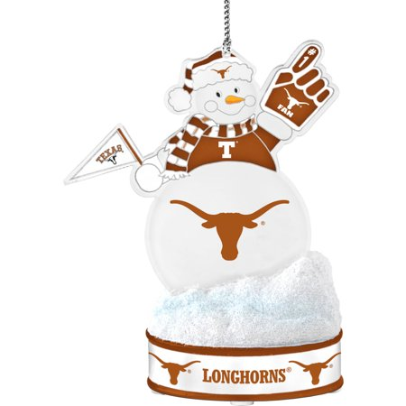 Texas Longhorns Ornaments - Topperscot by Boelter Brands NCAA LED Snowman Ornament, University of Texas Longhorns