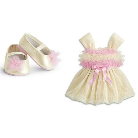 American Girl Bitty Baby Sugar & Spice Fancy Dress and Shoes Outfit Retired