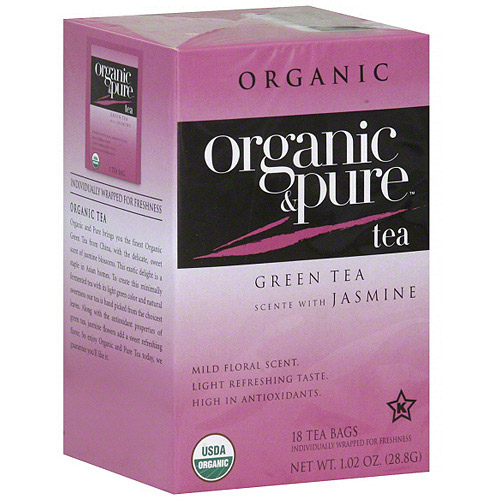 Generic Organic & Pure Green Tea Scented With Jasmine, 18bg (pack Of 6)