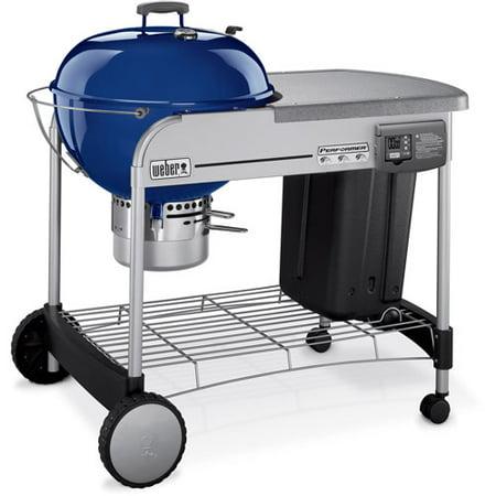 weber 22 5 performer platinum charcoal grill dark blue. Black Bedroom Furniture Sets. Home Design Ideas