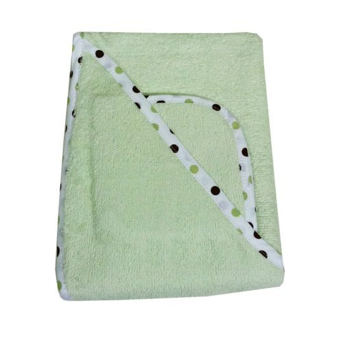 American Baby Company Organic Terry Hooded Towel Set - Celery