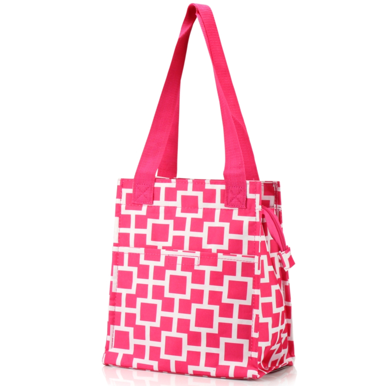 Zodaca Fashion Insulated Lunch Bag Women Tote Cooler Picnic Travel Food Box Zipper Carry Bags for Camping Hiking