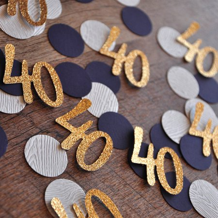40th Birthday Decoration. Ships in 1-3 Business Days. 40 Number Confetti 50CT.](40 Birthday Decorations)