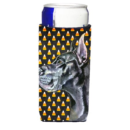 Black Great Dane Candy Corn Halloween Ultra Beverage Insulators for slim cans LH9550MUK](Great Dane Horse Halloween)