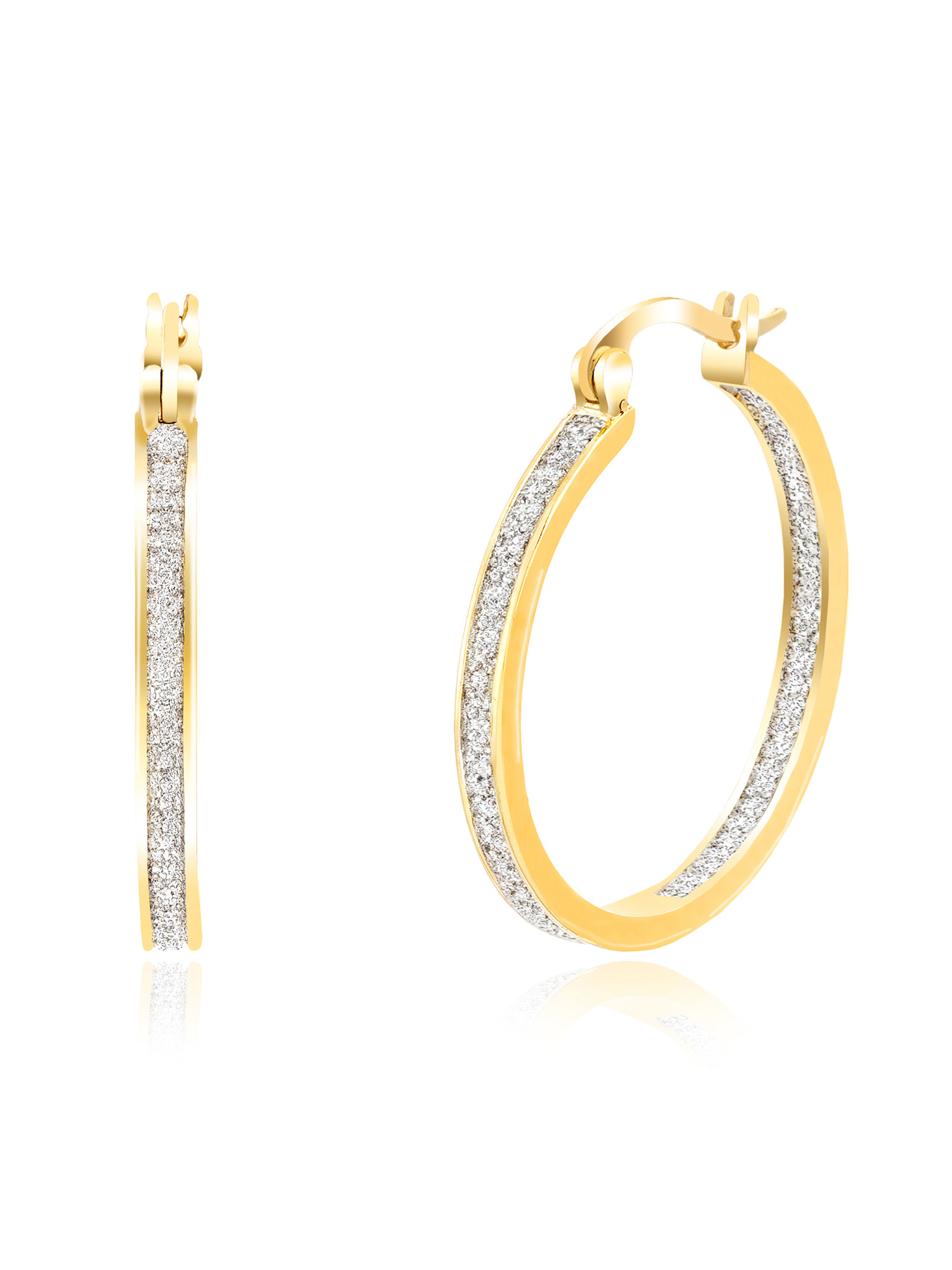 Lumineux Diamond Accent 35mm Hoop Earring