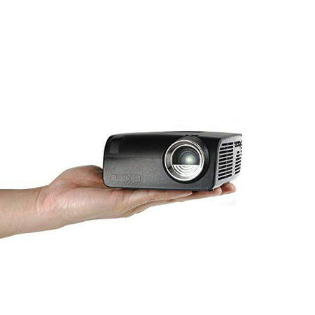 AAXA S2 Mini LED Projector, USBC Smartphone Laptop Mirroring, 6 Hour Built-in Battery, 720p HD Native Resolution (Support 1080p) Portable Projector, HDMI, Onboard Media Player, DLP, 400