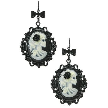 Glow In Dark Cameo Earrings Cameo Shell Earrings