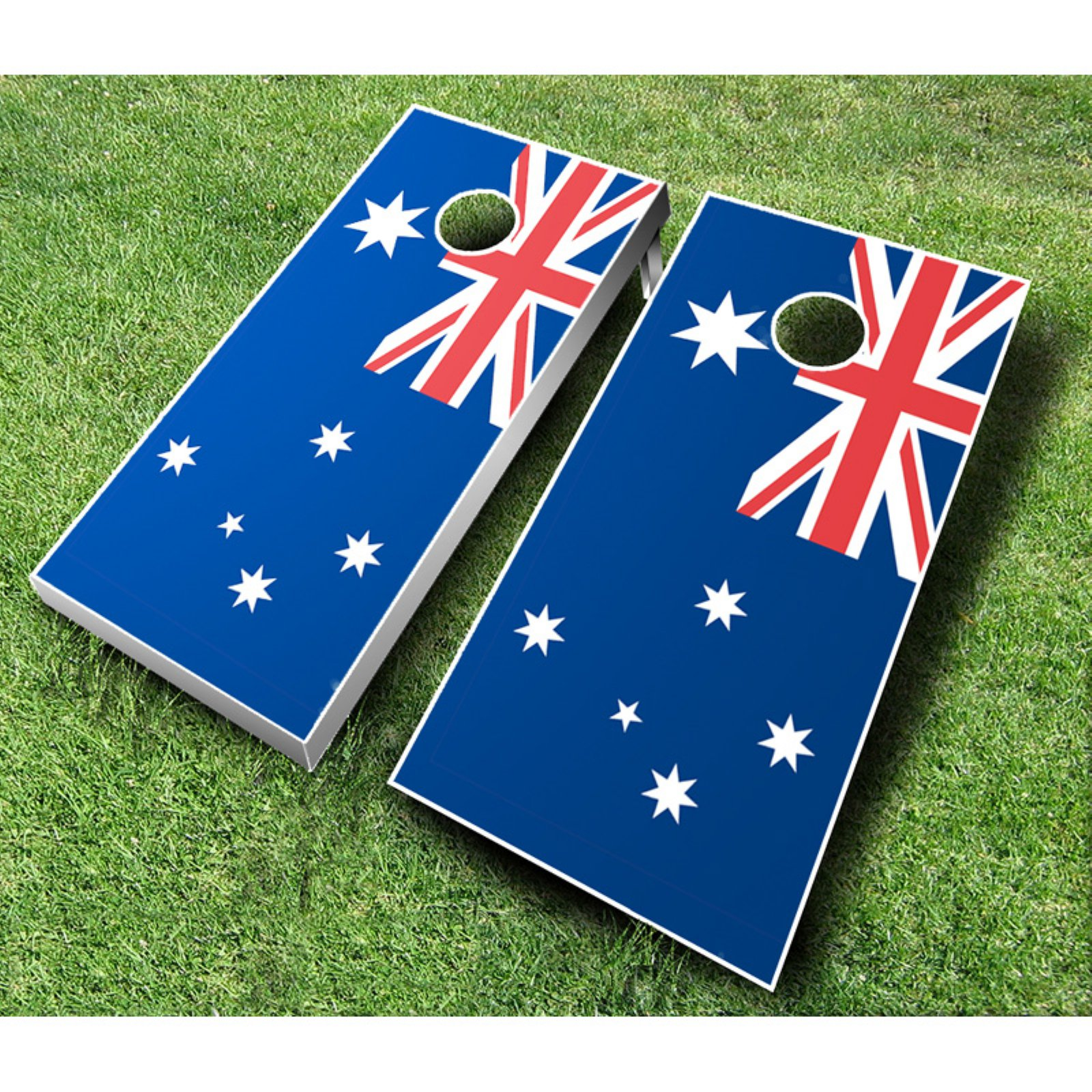Australian Flag Cornhole Set with Bags by AJJ Cornhole