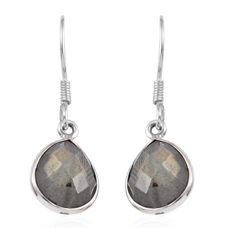 Dangle Drop Earrings Handmade 925 Sterling Silver Pear Labradorite Gift Jewelry for Women