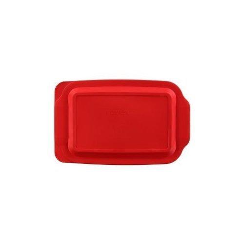 """3 X  3 Quart 9"""" x 13"""" Red Rectangular Plastic Lid 233-PC ..."""
