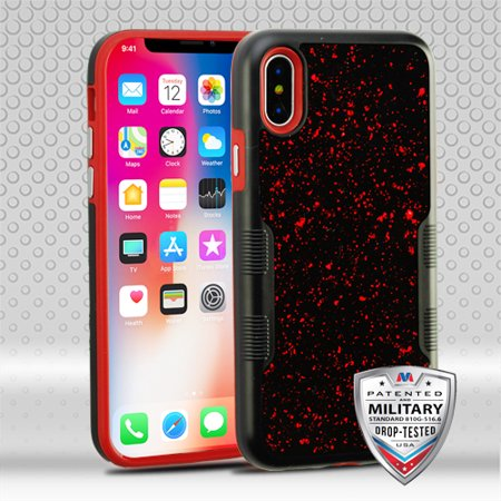 For iPhone XS/X TUFF Contempo Hybrid Hard Silicone Shell Impact Protector Cover